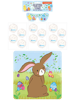 Stick The Tail On The Bunny Game -Easter Activity Childrens Pin Kids Rabbit Egg