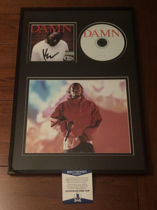 KENDRICK LAMAR RAPPER SIGNED DAMN CD ALBUM DISPLAY AUTOGRAPH TPAB GKMC BAS COA