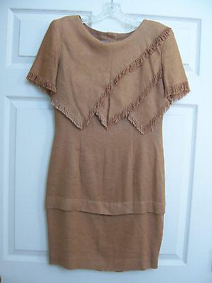 Vtg BEAU DAVID Womens Chestnut Brown Dress Thanksgiving - Thanksgiving Dress