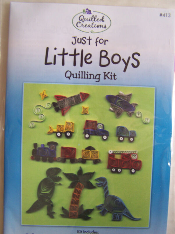 Just for Little Boys Quilling Kit Instructions & Paper