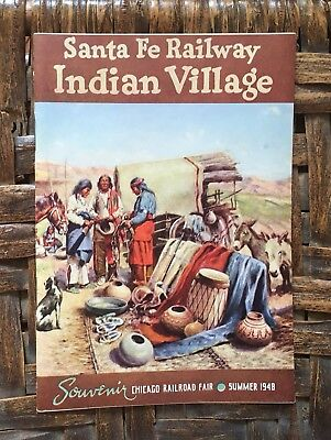 Santa Fe Railway Booklet Indian Village 1948 Chicago Railroad Fair Souvenir