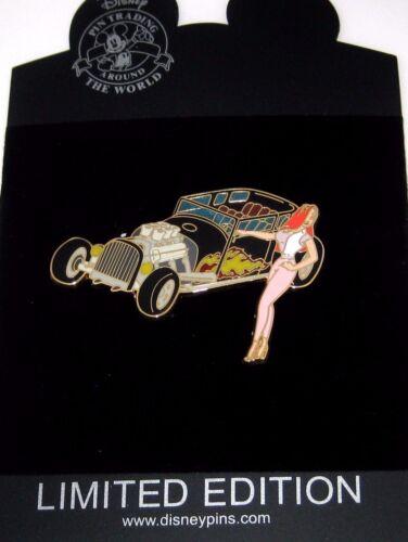 RARE LE100 Disney Pin✿Sexy Jessica Rabbit Hot Rod Classic Car Open Top Sedan HTF