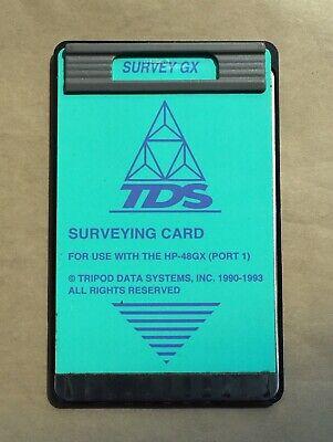 Tds Survey Gx Card For Hp 48gx Calculators