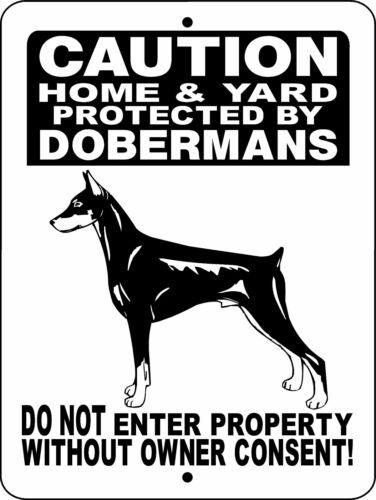 DOBERMAN PINSCHER  DOG ALUMINUM SIGN WARNING 2496HY1