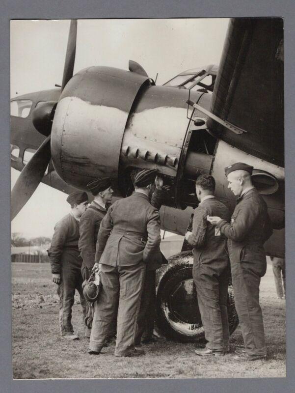 LOCKHEED HUDSON BROUGHT DOWN DORNIER FLYING BOAT ORIGINAL 1940 WW2 PRESS PHOTO