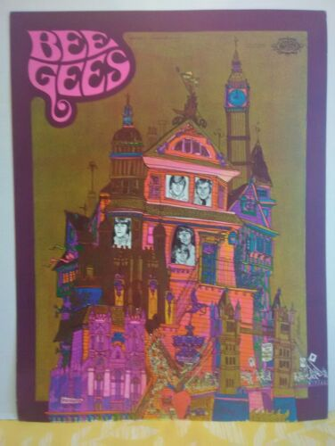 BEE GEES  1967 SPARTA POSTER LITHOGRAPH PRINT RARE MUSIC POP ROCK ROLL