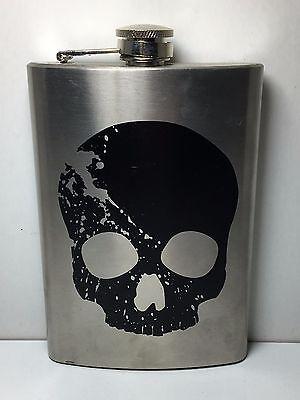 METAL SKULL FLASK NEW* (Metal Flask)