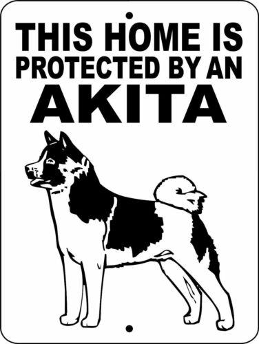 """0256 Akita 9""""x12"""" Aluminum Sign"""