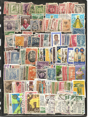 PHILIPPINES Collection  Mix 400 Stamps. used f-vf Older issues.
