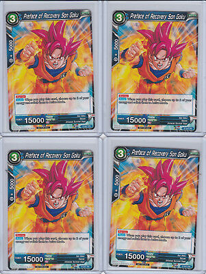Dragon Ball Super Card Game BCC Promo Preface of Recovery Son Goku x4 NM In Hand