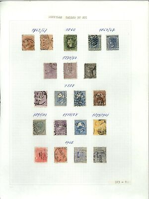 New South Wales QV Album Page Of Stamps #V21266