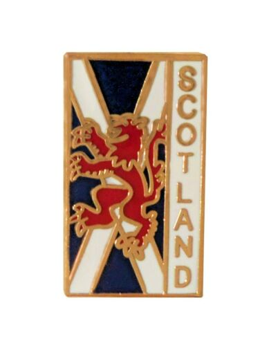 Scotland Saltire & Lion Rampant Upright Pin Badge