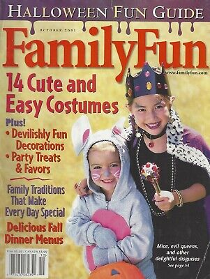 Cosmopolitan Halloween Costumes (Family Fun (Oct 2001) Halloween Fun Guide / Costumes Dinner Decorations )
