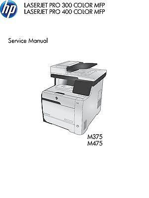 HP LaserJet Pro 300 M375, 400 M475 Color MFP - Service Manual PDF
