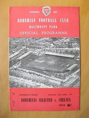 BOHEMIANS SELECT v CHELSEA Friendly 1953/1954 *Exc Condition Football Programme*
