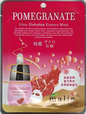 Malie Ultra Hydrating Essence Mask Sheet Pack Korean Cosmetics POMEGRANATE 1 pcs