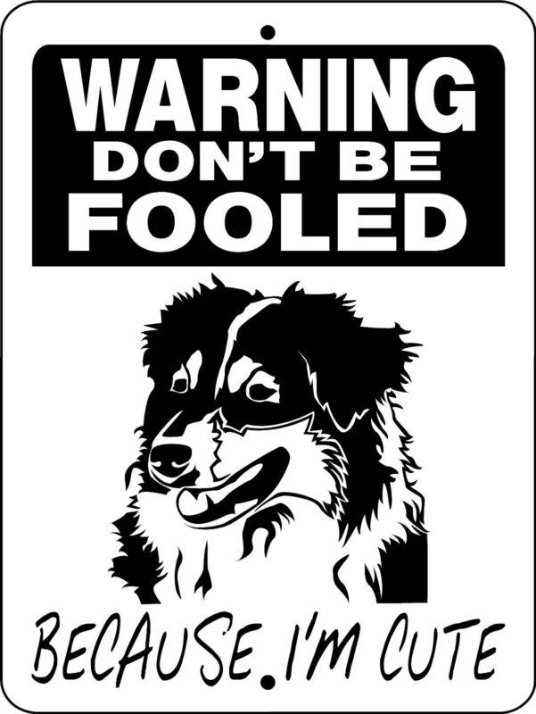AUSTRALIAN SHEPHERD ALUMINUM SIGN DOG BREED D3299