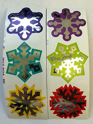 50 Frozen Snowflake  Stickers Teacher Supply Party Favors Winter - Snowflake Favors
