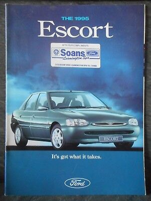 Ford Escort February 1995 promotional car sales catalogue brochure FA1212