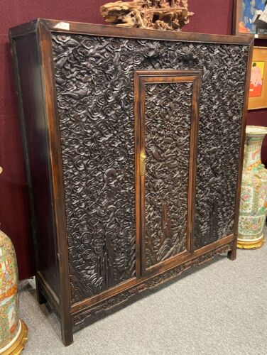 Chinese Finely Carved Hard Wood