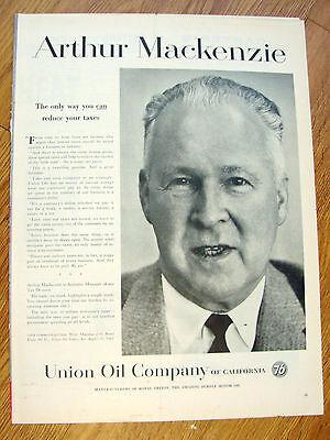 1958 Union Oil 76 Ad  Arthur Mackenzie