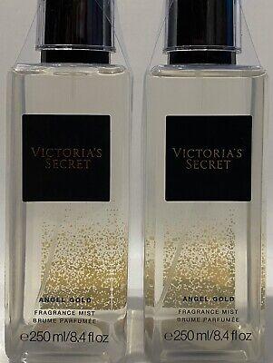 2 Victoria's Secret Angel Gold Fragrance Mist Spray 8.4 oz Brand New