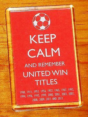 Keep Calm Manchester United Man Utd Football Fridge Magnet
