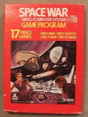 M Original Atari 2600 Cx 2604 Space War Video Computer System Game Program