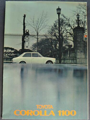 1968 Toyota Corolla 1100 Sales Brochure Folder Sedan Wagon Excellent Original 68