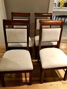 8 Maple Dining Chairs with cherry stain