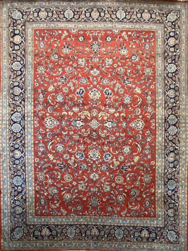 Fantastic Floral - 1960s Vintage Oriental Rug - Handmade Carpet - 8.2 X 11 Ft
