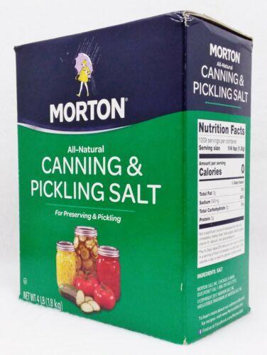 1 Box Morton All-Natural CANNING & PICKLING SALT Preserving Canning 4 LB