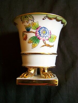 Footed Urn - HEREND FLORAL BUTTERFLY PORCELAIN 3