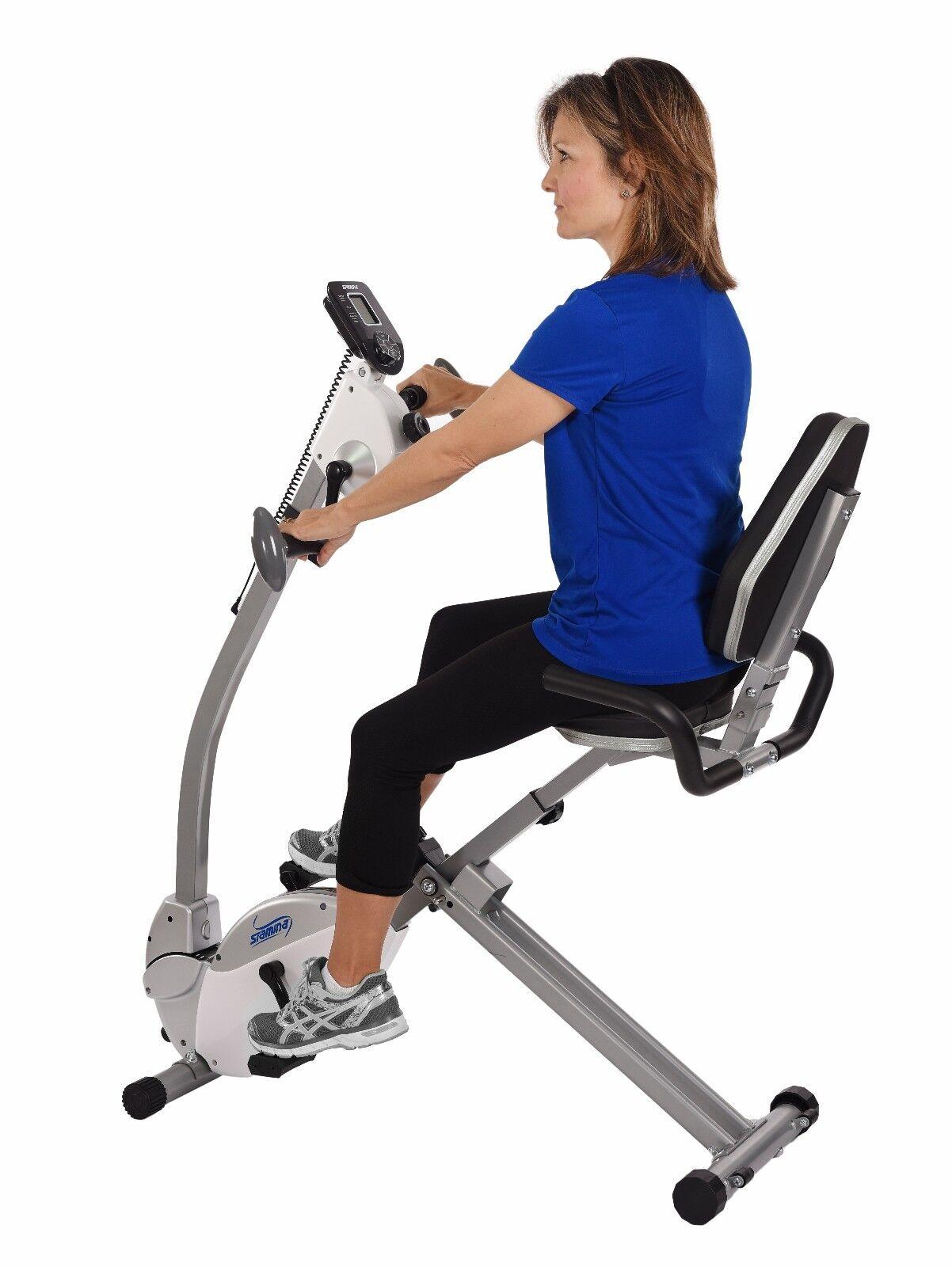 STAMINA Recumbent EXERCISE BIKE w/Upper Body Exerciser 15-03