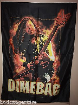 Dimebag Darrell on Fire! Pantera Textile Fabric Cloth Poster Flag Banner New!