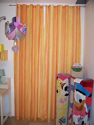 Tenda per cameretta arancione e gialla con bastone - tenda camera bambino