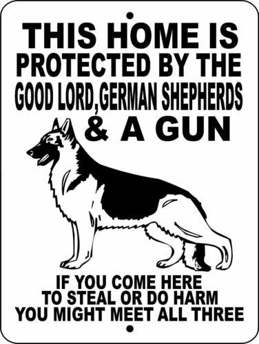 "0095 German Shepherd 9""x12"" Aluminum Sign"