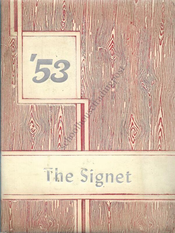 College Yearbook Rockmont College Denver Colorado Signet 1953