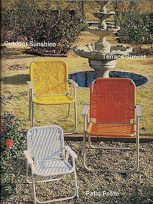 Möbel Fan (Buch nur #7516 Möbel Fan-Fare I Rare Makramee Faltbar Terrasse Stuhl Muster)