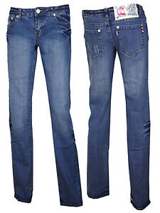 New Womens Ladies Straight Leg Stretch Denim Jeans Size UK 6 8 10 12 14 16
