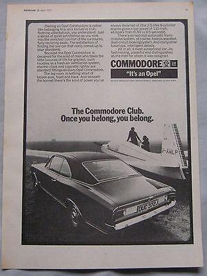 1971 Opel Commodore Original advert