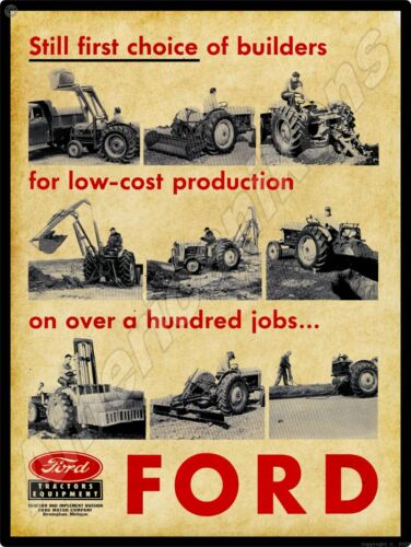1956 Ford Industrial Tractors New Metal Sign: Tractor & Implement Division