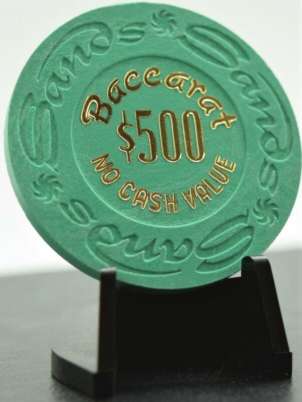 Sands Casino $500 Baccarat NCV Chip Las Vegas NV Paulson House 1981