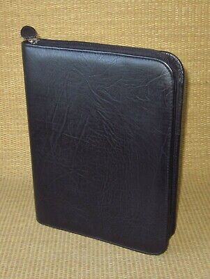 Deskclassic 1.125 Ring Black Sim. Leather Day-timer Zip Plannerbinder