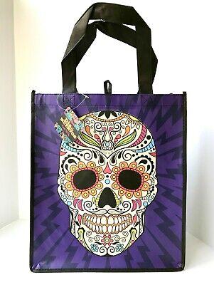Dia De Los Muertos Shop (Day Of Dead SUGAR SKULL Dia De Los Muertos Reusable Shopping Bag Tote PURPLE)