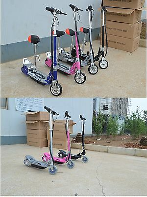 CHILDRENS KIDS RIDE ON 24V ELECTRIC E-SCOOTER SCOOTER BIKE 120W AND 140W + SEAT