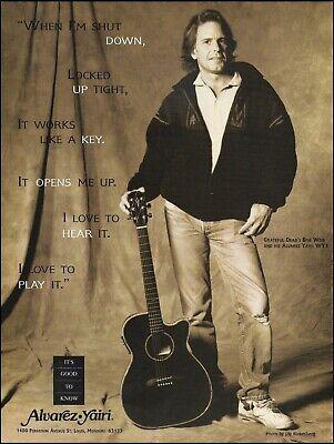 Grateful Dead Bob Weir Alvarez Yairi WY1 acoustic guitar ad 8 x 11 advertisement for sale  Shipping to Ireland