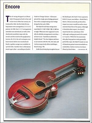 1914 Gibson 16-string Style U harp vintage guitar 2000 pin-up history article