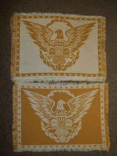 Vintage Cotton Reversible Eagle Placemats Set of 5