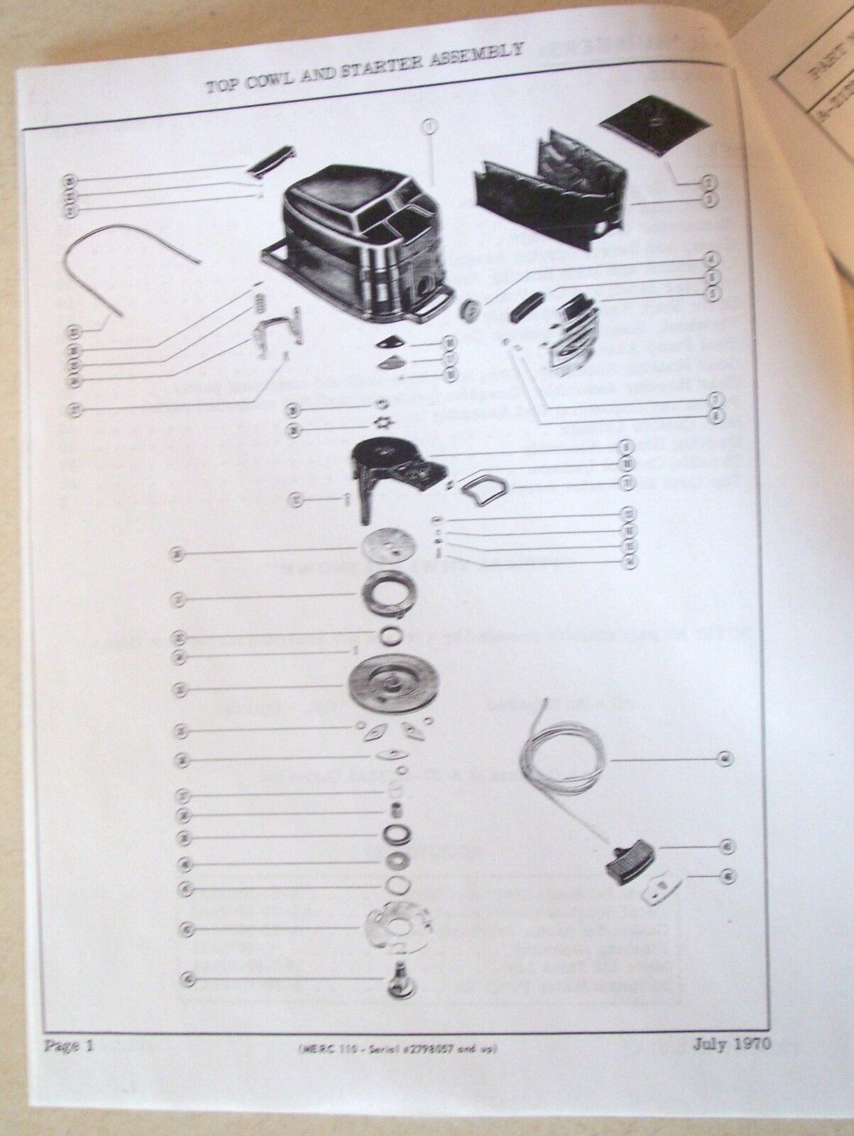 mercury 110 9 8 hp outboard motor parts list manual 70 s 80 s rh picclick com Mercury 110 Parts Mercury 110 9.8 Manual